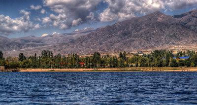 Кыргызстан. Озеро Иссык-Куль. Изображение взято с сайта http://redigo.ru